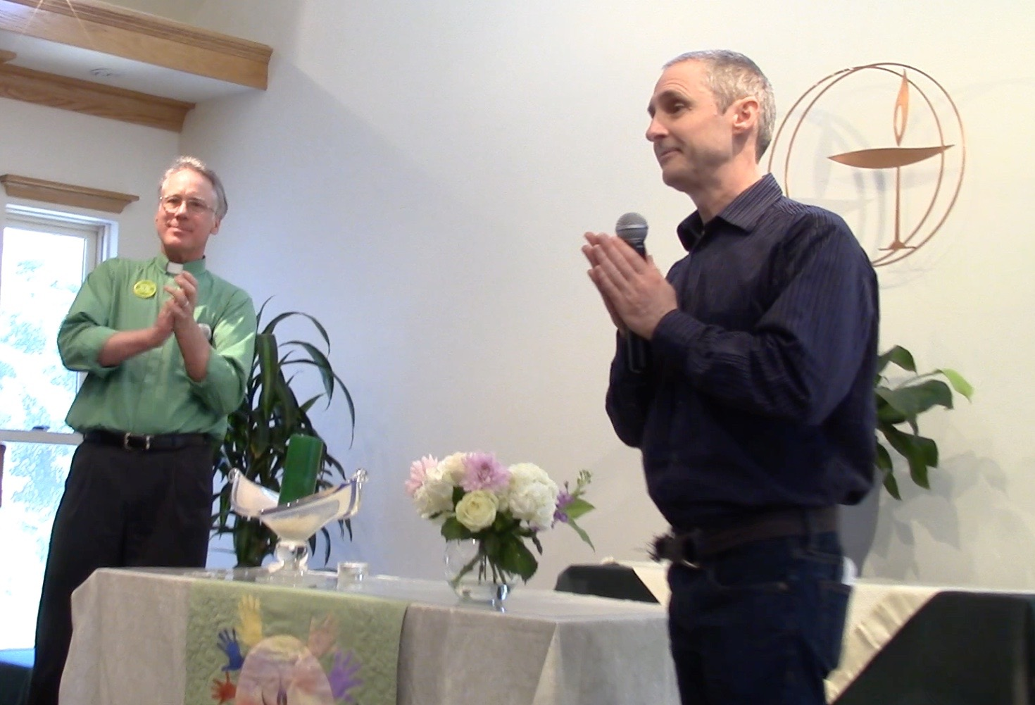 LEFT Dowd And Michael Foster Were Guest Speakers At The Sunday Morning Service On February 12 Live Oak Unitarian Universalist Congregation Goleta CA